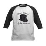 Top Hat Groom's Best Friend Kids Baseball Jersey