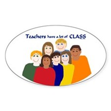 Teachers/CLASS Oval Decal