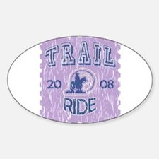 Distressed Trail ride 2008 Oval Decal