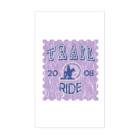 Distressed Trail ride 2008 Rectangle Sticker