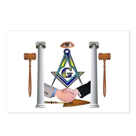 Masonic Brothers Postcards (Package of 8)