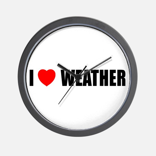 I Love Weather Wall Clock