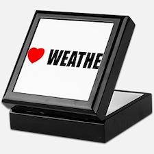 I Love Weather Keepsake Box