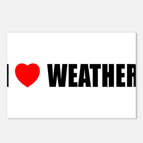 I Love Weather Postcards (Package of 8)