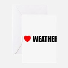 I Love Weather Greeting Cards (Pk of 10)