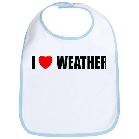 I Love Weather Bib