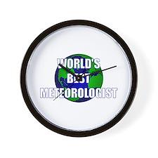 World's Best Meteorologist Wall Clock