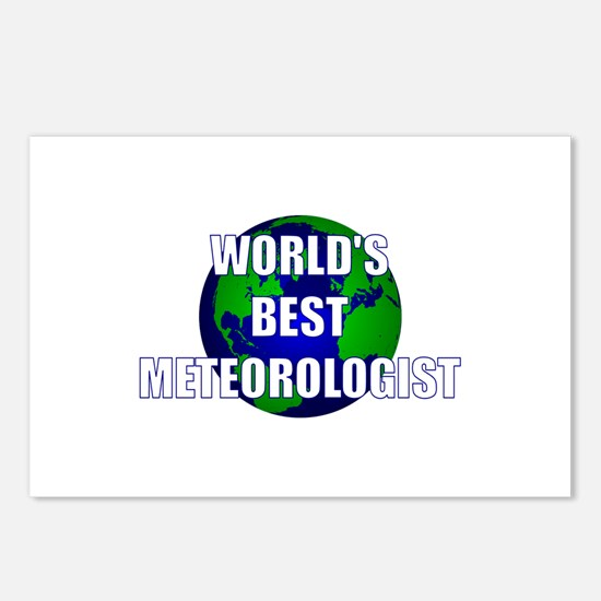 World's Best Meteorologist Postcards (Package of 8