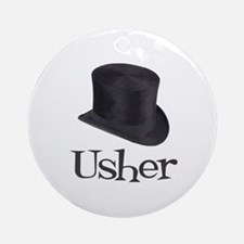 Top Hat Usher Ornament (Round)
