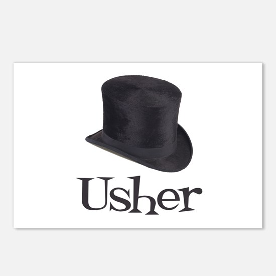 Top Hat Usher Postcards (Package of 8)