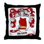 Grimm Family Crest Throw Pillow