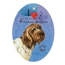Wirehaired Pointing Griffon Oval Ornament