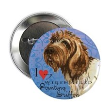"""Wirehaired Pointing Griffon 2.25"""" Button"""