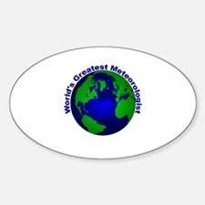 World's Greatest Meteorologis Oval Decal