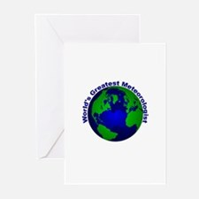 World's Greatest Meteorologis Greeting Cards (Pk o