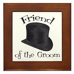 Top Hat Groom's Friend Framed Tile