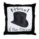 Top Hat Groom's Friend Throw Pillow