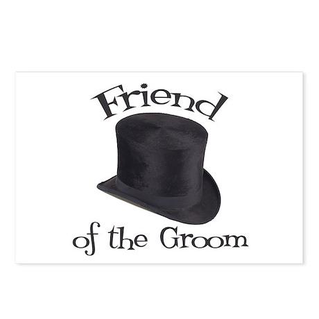 Top Hat Groom's Friend Postcards (Package of 8)