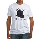Top Hat Groom's Friend Fitted T-Shirt