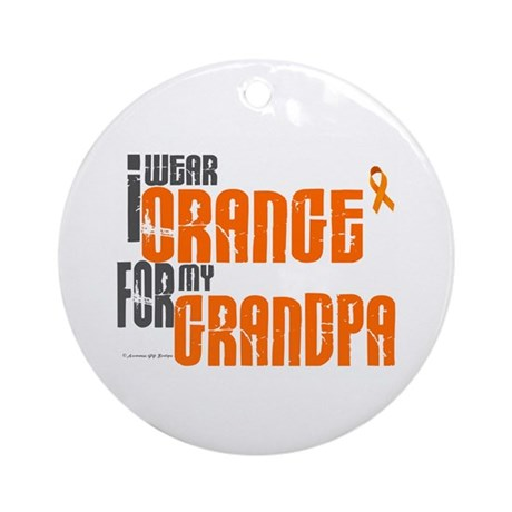 I Wear Orange For My Grandpa 6 Ornament (Round)