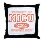 Property Of NICU Nurse Throw Pillow