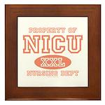 Property Of NICU Nurse Framed Tile