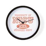 Property Of NICU Nurse Wall Clock