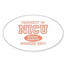 Property Of NICU Nurse Oval Decal