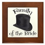 Top Hat Bride's Family Framed Tile