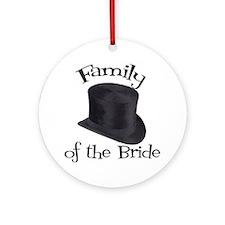 Top Hat Bride's Family Ornament (Round)