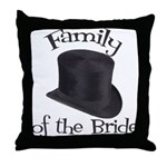 Top Hat Bride's Family Throw Pillow