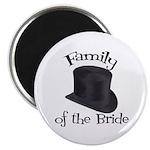 Top Hat Bride's Family Magnet