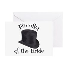 Top Hat Bride's Family Greeting Cards (Pk of 10)