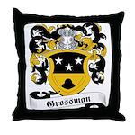 Grossman Family Crest Throw Pillow
