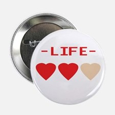 LIFE (hearts) - Button