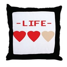 LIFE (hearts) - Throw Pillow