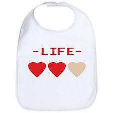 LIFE (hearts) - Bib