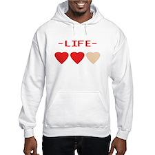 LIFE (hearts) - Hoodie