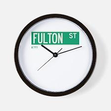 Fulton Street in NY Wall Clock