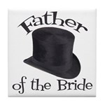 Top Hat Bride's Father Tile Coaster