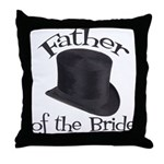 Top Hat Bride's Father Throw Pillow