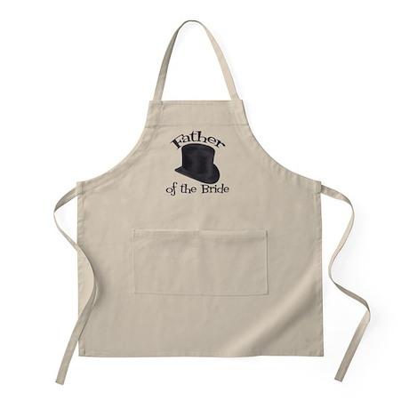 Top Hat Bride's Father BBQ Apron