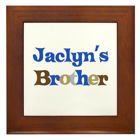 Jaclyn's Brother Framed Tile