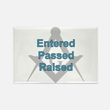 Entered Passed Raised Rectangle Magnet