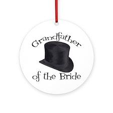 Top Hat Bride's Grandmother Ornament (Round)