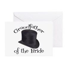 Top Hat Bride's Grandmother Greeting Cards (Pk of