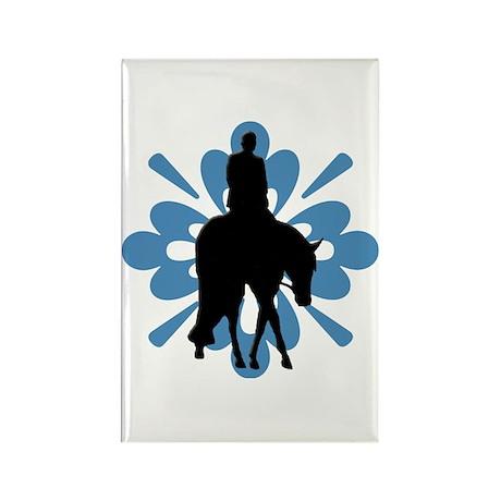Hunter under saddle flower Rectangle Magnet