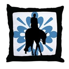 Hunter under saddle flower Throw Pillow