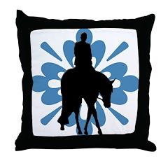 Hunter under saddle flower Throw Pillow