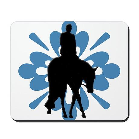 Hunter under saddle flower Mousepad